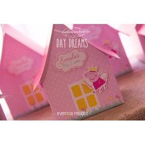 Peppa Hada Souvenir Casa Cajitas Personalizadas X 10 Unid