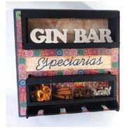 Barzinho Com Porta Taças E Suporte P/ Especiarias P/ Gin Gim