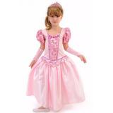 Fantasia Vestido Bela Adormecida Princesa Aurora Luxo Ecoroa