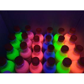 Pintura Neon Glow Para Aventar Fiesta Luz Negra Uv Pieza