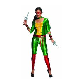 Disfraz Mujer Tortugas Ninja Rafael 3d Talla L
