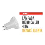 Lampada Led Dicroica 4,8w Gu10 Mr 16 Avant Branco Quente