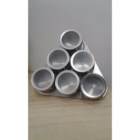 Especiero X 6 Imantado Metal Triangulo Soporte