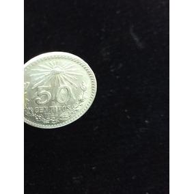 Moneda De Plata 50 Centavos Resplandor