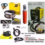 Soldadora Mig Tig Electrodo 3 En 1 Esab 200i+ Tubo+ Reg+ Alm