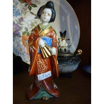 Fantástica Figura En Porcelana Oriental Satsuma!!! #0009