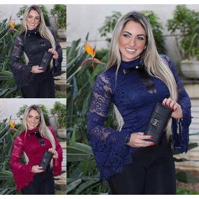 Blusa Renda Flare Moda Festa Sexy Balada Diva Blogueira Lind