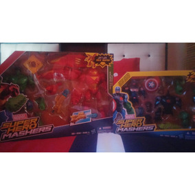 2 Pack Super Hero Mashers Capitan America Y Hulk Buster