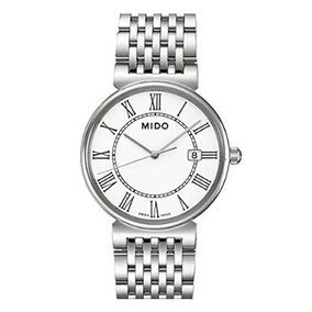 Relógio Masculino Mido Suíço Dorada Prata/branco Aço