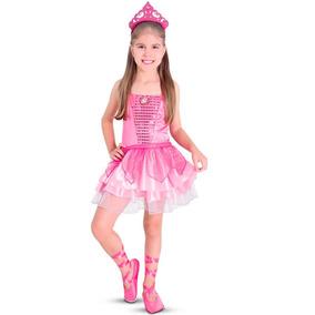 Fantasia Barbie Sapatilhas Magicas Coroa Sapatilha Tamanho P