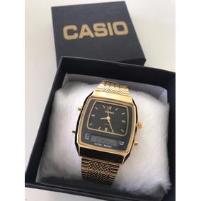 1b7c1a2f325 Relógio Casio Black Gold - Relógios no Mercado Livre Brasil
