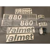 Jogo Decalque Adesivo De Lataria Trator Valmet 880 4x4