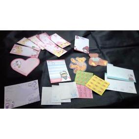 Lote B - 100 Papeis De Carta Pequenos (notas) E Memos
