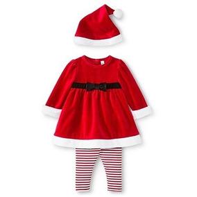 Ropa Navidad Bebe Niña Vestido Santa Claus Ultima Pieza