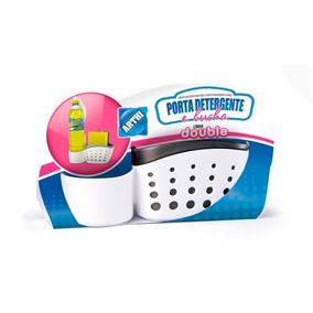 Porta Detergente E Bucha Double Branco E Cinza - Arthi