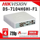 Mini Dvr Hikvision Ds-7104hgh, 4 Canales,turbo Hd,trihibrido