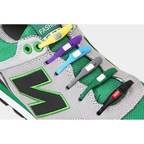 Pack 12 Agujetas [ Never Tie It ] Silicon Colores Moda Tenis