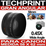 Lente Gran Angular 58 Mm Para Camara Fotografica Profesional
