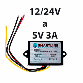Convertidor De Voltaje 24v / 12v A 5v 3a