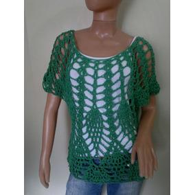 Remera Tejidas Crochet En Hilo