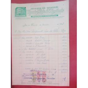 Antiga Nota Drogaria São Sebastião Juiz De Fora Minas Gerais