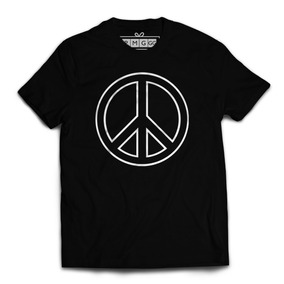Camiseta Camisa Love And Peace Paz E Amor Hippie Simbolo