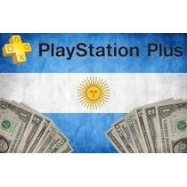 Psn Plus Argentina 3 Meses -ps3 Y Ps4- Entrega Inmed.x Mail