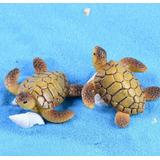 Tartaruga Miniatura Jardim Bonsai Decoração Aquário Cenário