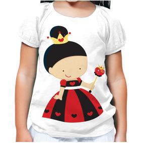 Camiseta Infantil Feminina Princesa Copas Menina