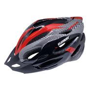 Capacete Com Sinalizador De Led Ciclismo Bike Vermelho/preto