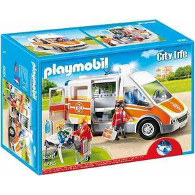 Ambulancia Con Luces Y Sonido Playmobil Pm6685 R3157
