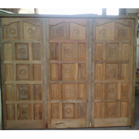 Portón De Garage De Madera Algarrobo 240x200