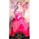Muñeca Articulada Con Vestido Tipo Barbie, Somos Tienda