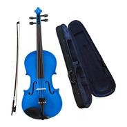 Violin Cervini Hv100 4/4 Azul Estuche Arco Resina By Cremona