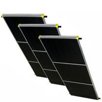 Aquecedor Solar Inox 2,0x1,0m Conj 3 Unidades Placa Solar