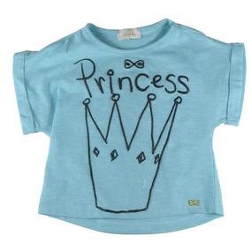 Blusa Infantil Menina Luluzinha Azul Princesa