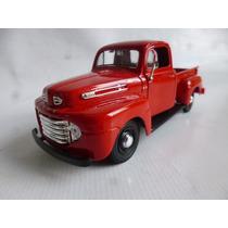 Ford 1948 Pickup Escala 1/25 Maisto Metalica Auto Coleccion