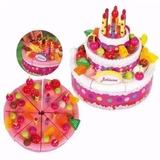 Torta Juliana De Cumpleaños Grande Set Completo Luz Sonido