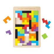 Tangram Tetris Juguete Didáctico Madera Montessori Mundocute