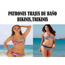 Patrones Trajes Baño Trikinis Bikinis Lenceria Imprimible