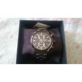 Reloj De Acero Con Cronómetro Marca Seiko Original