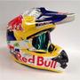 Capacete Ktm Motocross Red Bull/redbull Oculos Opicional