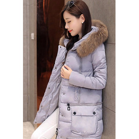 Chamarra Larga Gris Ideal Lluvias E Invierno Moda Corea