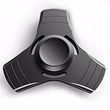 Fidget Spinner Metalico Antiestres Negro Con Estuche