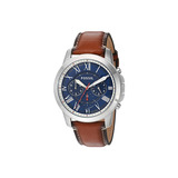 Relógio Masculino Fossil Fs5210/0an Pulseira Couro Marrom