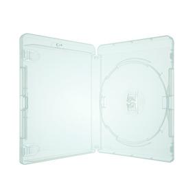 50 Unidades - Box Blu-ray Transparente Com Logo Cromado
