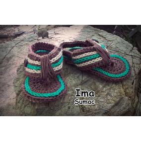 Sandalias Bebe Tejidas Crochet Artesanales. Talles 16 Al 23