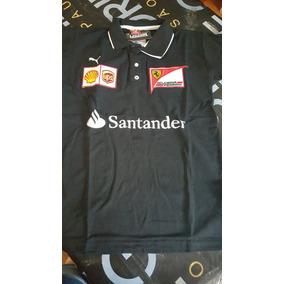 Camisa Gola Piquet Ferrari Masculina Bordada Pronta Entrega