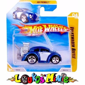 Hot Wheels 2010 Volkswagen Vw Beetle Fusca Azul
