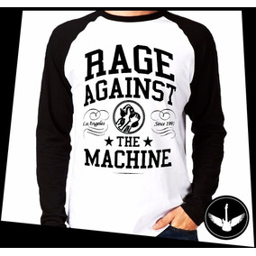 Manga Longa Rage Against The Machine Banda Rock Blusa R01